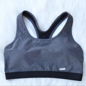Avia Heather Gray Racerback Sports Bra Large AVV12
